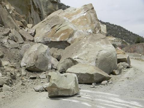 McClure Pass Rock Slide