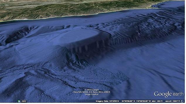 Google Earth Image Malibu