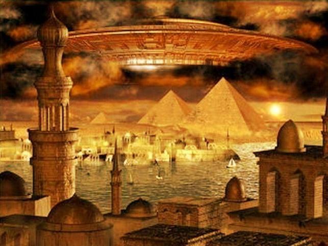 Egypt Pyramids & Spaceship