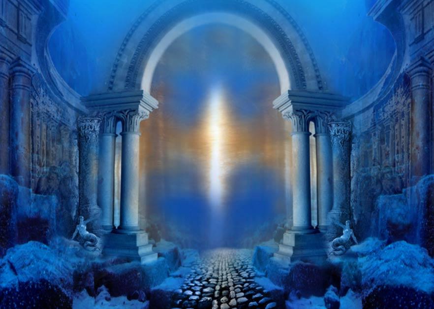 Depiction of Temple -- Atlantis