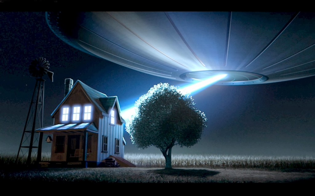 UFO over house