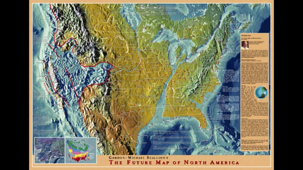 Gordon Michael Scallion Map of No. America