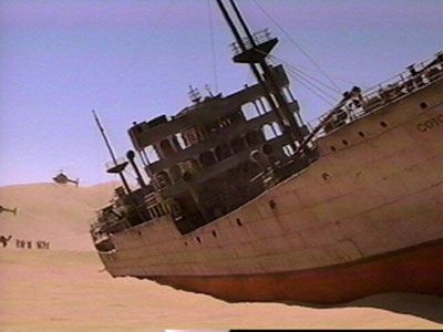 Shipwreck in Gobi Desert