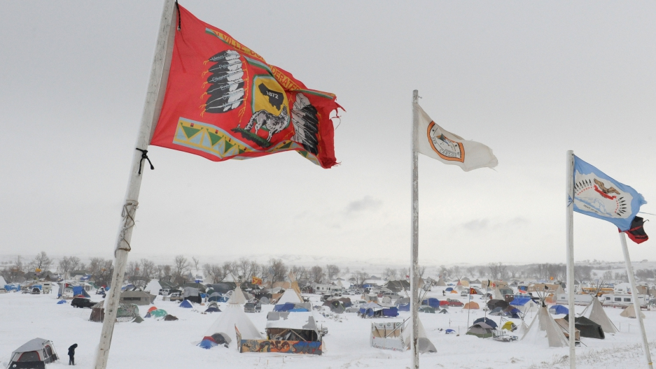North Dakota Pipeline Protest Camp