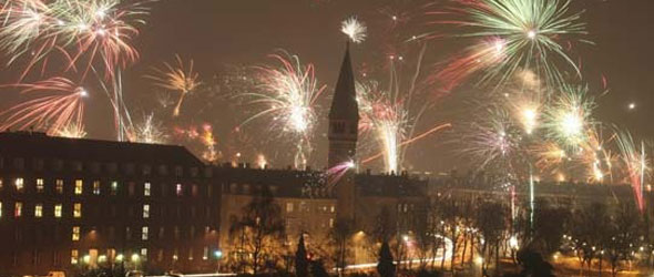 Copenhagen New Years Celebration