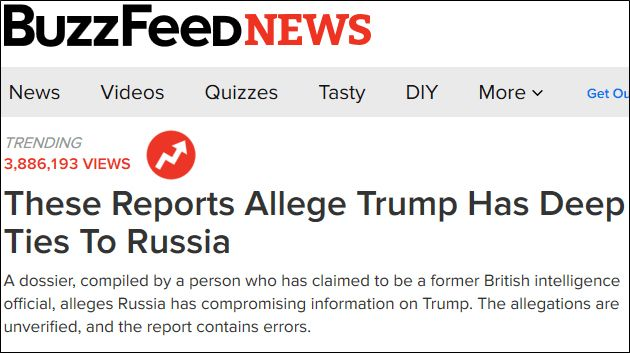 BuzzFeed Intelligence Report Heading