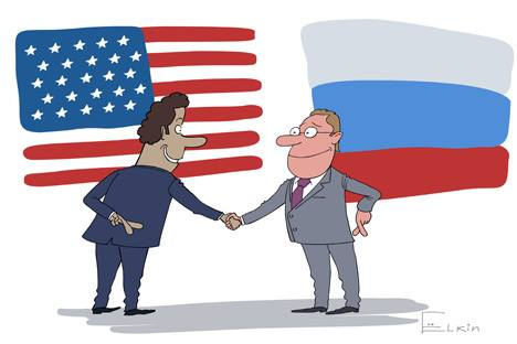US and Russia by Ivanov Yolka