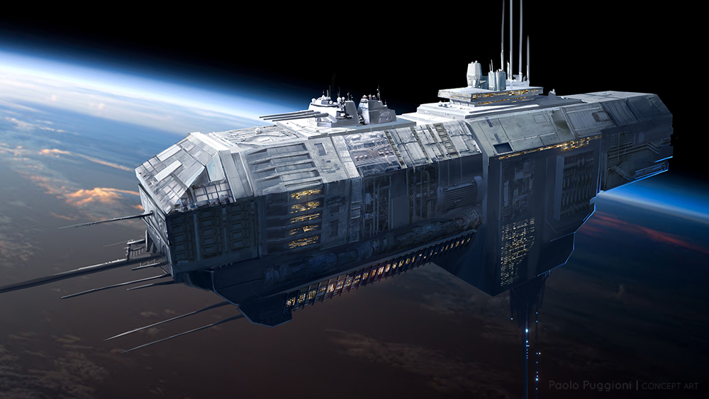 Spaceship Depiction