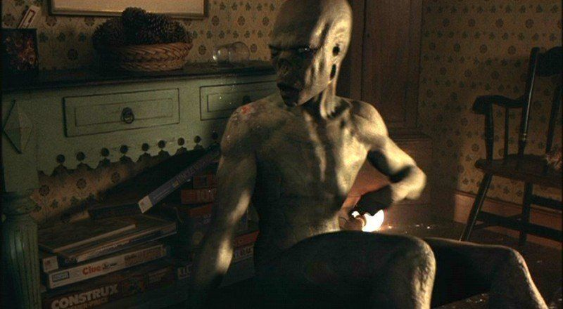 Alien in House Depiction