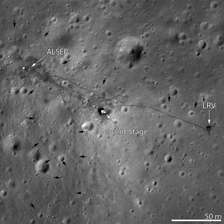 Tracks on Moon
