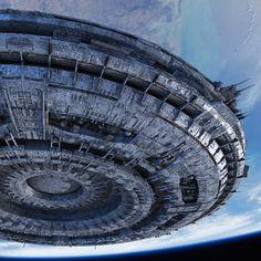 UFO Mothership Depiction