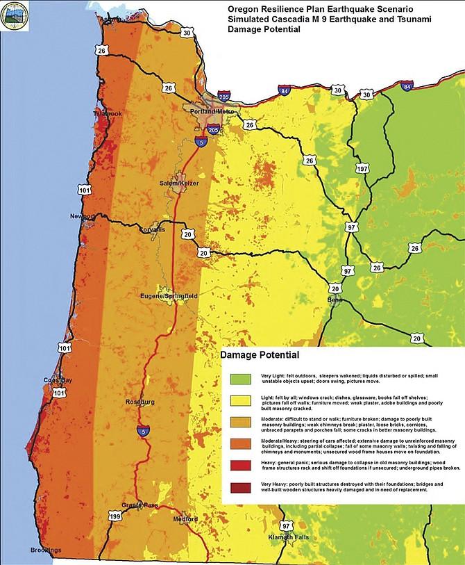 Washington State Earthquake Zones