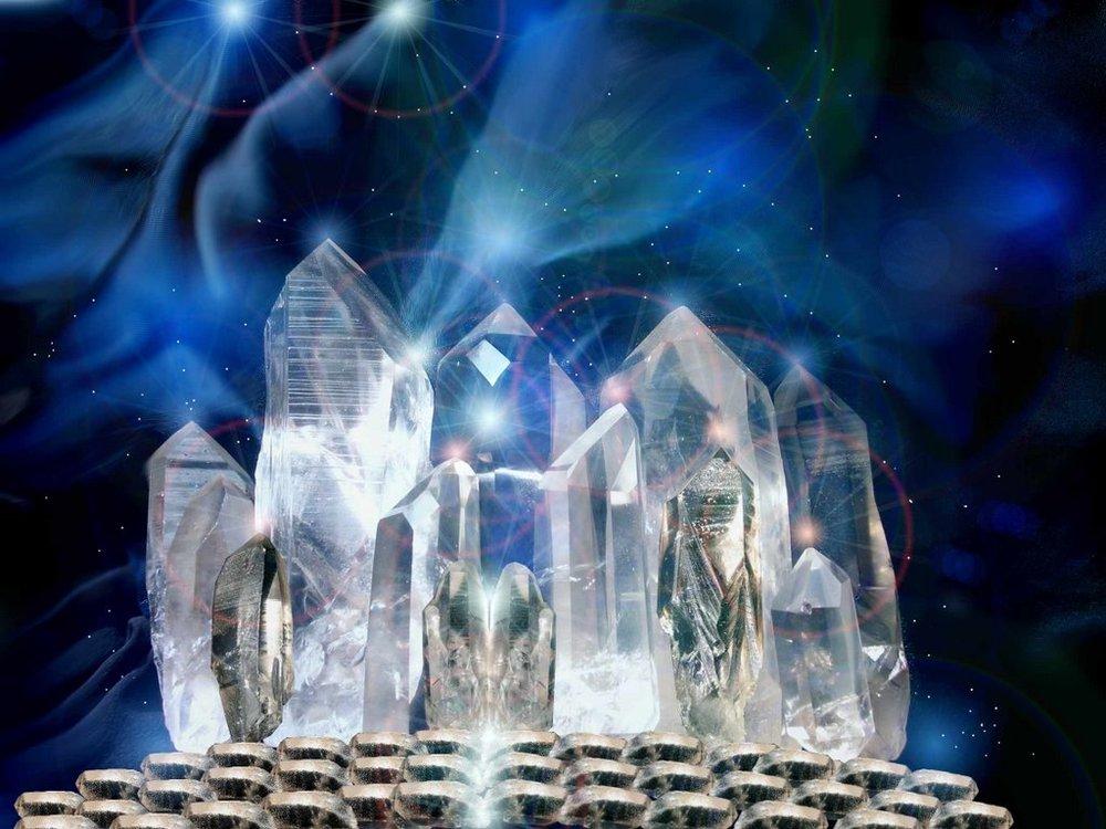 Atlantis Crystals depicted