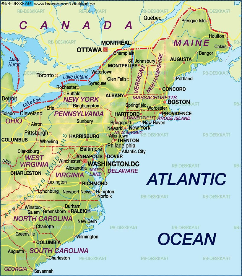 Atlantic Coast Map
