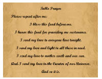 Table Prayer