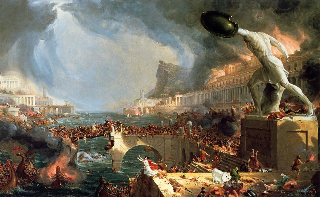 Atlantis destruction depicted