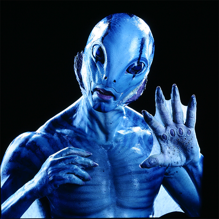 Abe Sapien of Hell-boy Movies