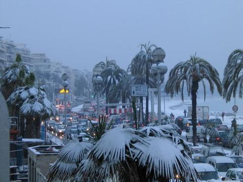 Snow in French Riviera