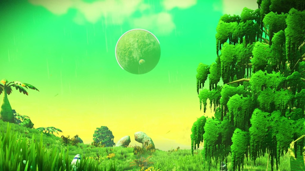Depiction of an alien planet