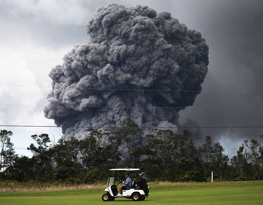 Golf Near Kilauea Volcano