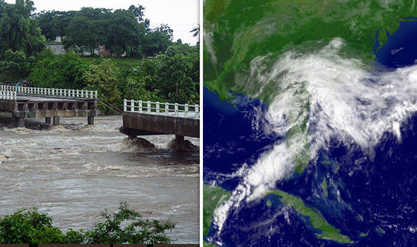 Flooding Tropical Storm Alberto