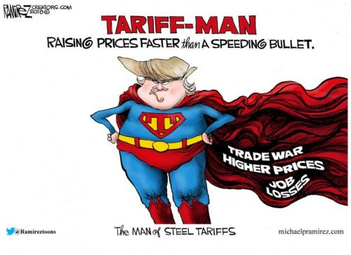 Tariff War Trump Cartoon   michaelpramirez.com