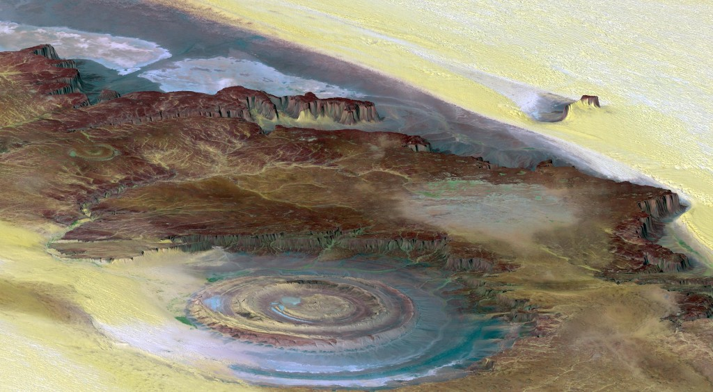 Eye of Africa Richat Structure, Atlantis