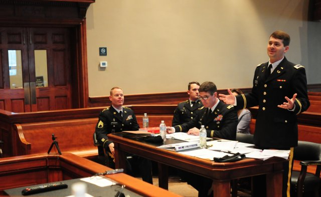 Mock Court Martial Trial