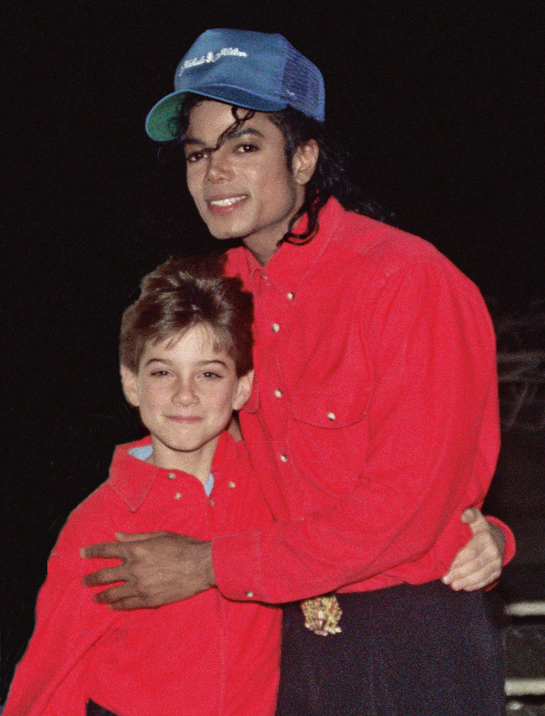 Michael and Accuser James Safechuck. Image by Alan Light