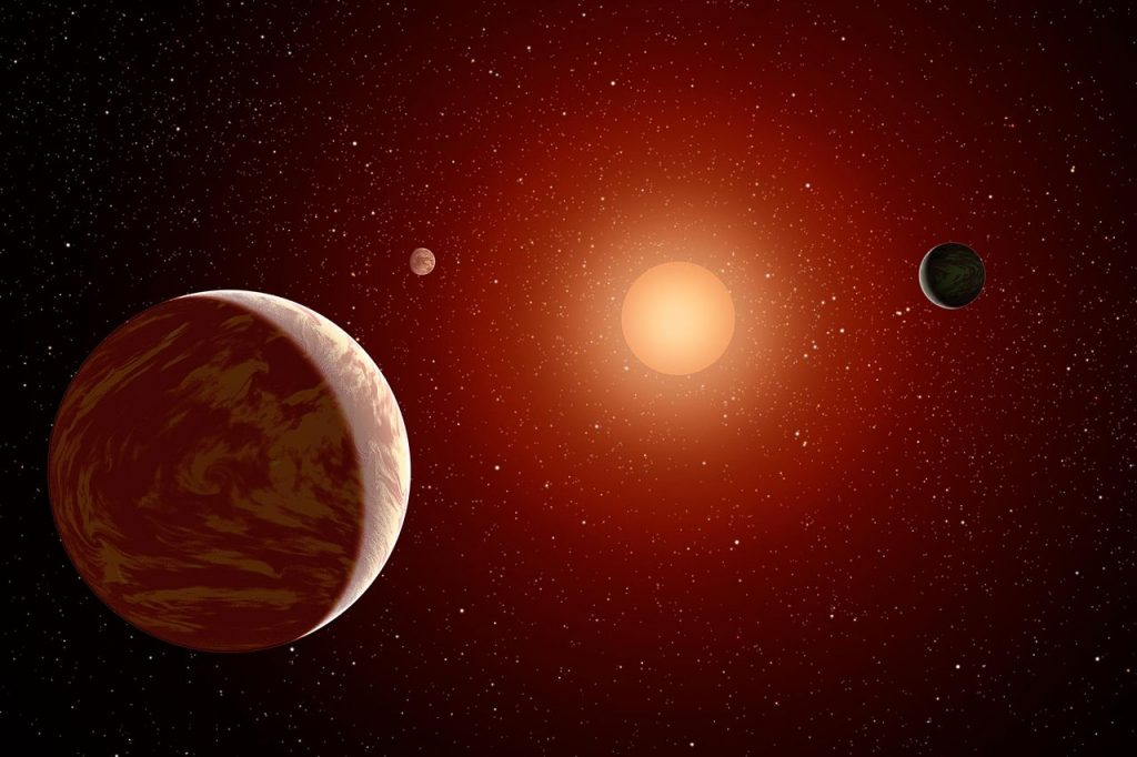 Planets and Red Dwarf Sun